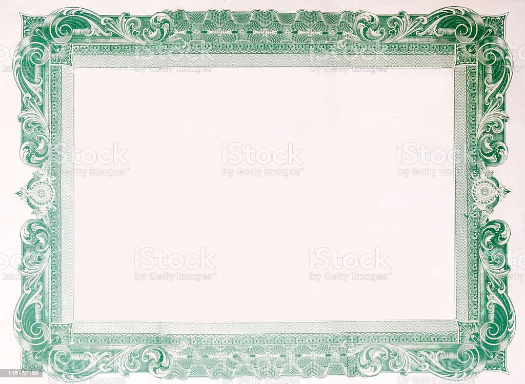 Old vintage stock certificate empty boarder stock vector art old vintage stock certificate empty boarder royalty free stock vector art yelopaper Choice Image