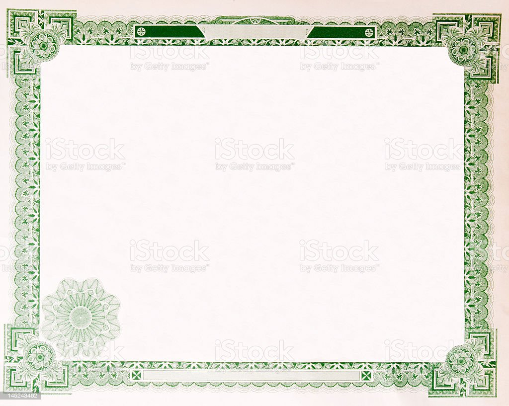 Old vintage stock certificate empty boarder issued in 1914 stock old vintage stock certificate empty boarder issued in 1914 royalty free old vintage stock certificate yadclub Images