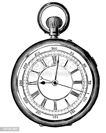 istock Old watch,19th Century 187057807