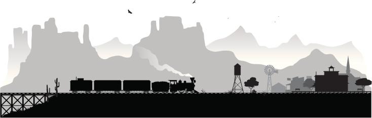 Old Western railroad