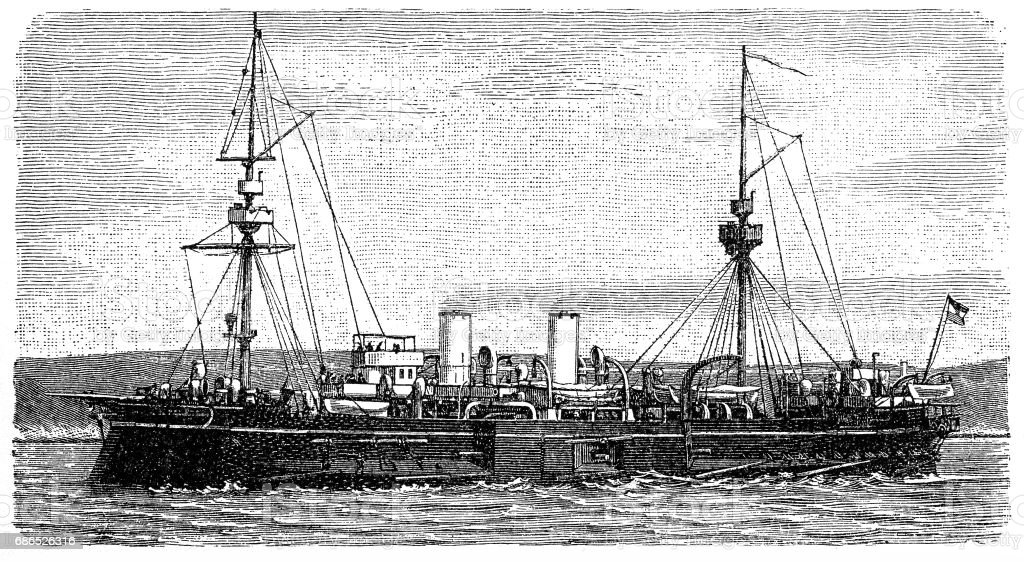 Older Casematt ship older casematt ship - immagini vettoriali stock e altre immagini di acquaforte royalty-free