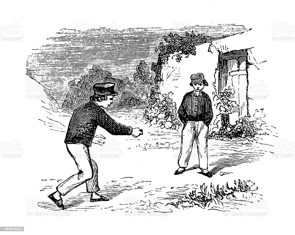 Old-Fashion Games: Spans and Snops royalty-free oldfashion games spans and snops stock vector art & more images of 19th century
