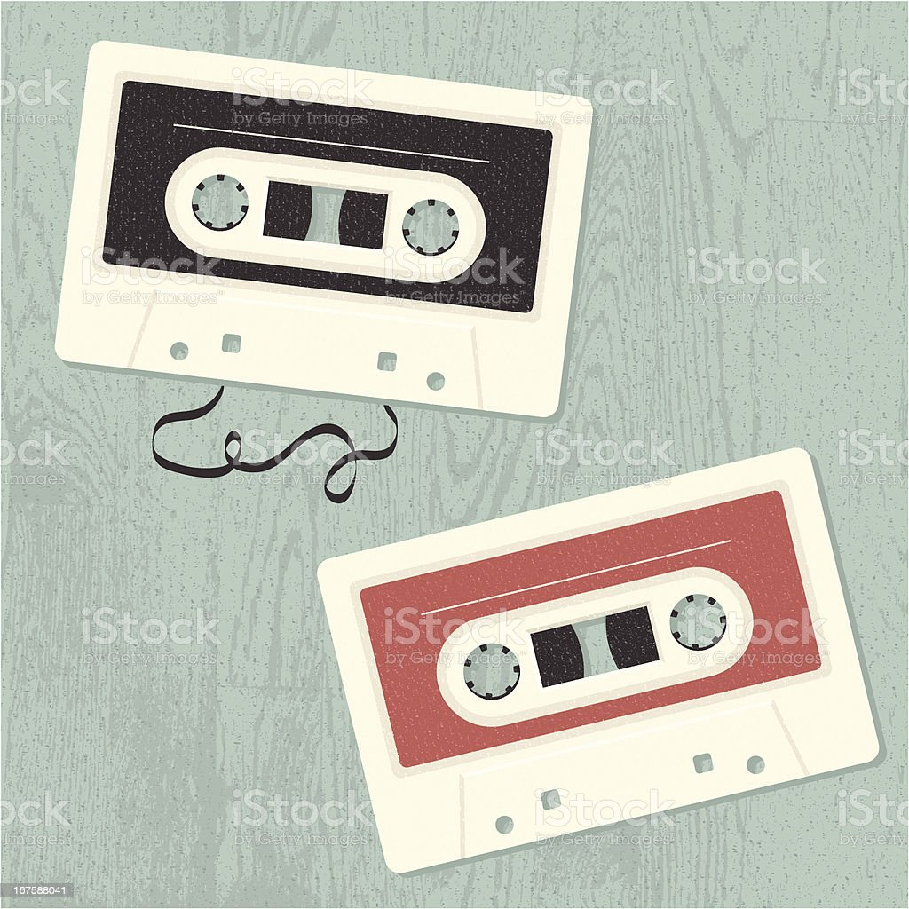 Old-School Music Tapes royalty-free oldschool music tapes stock vector art & more images of 1980-1989