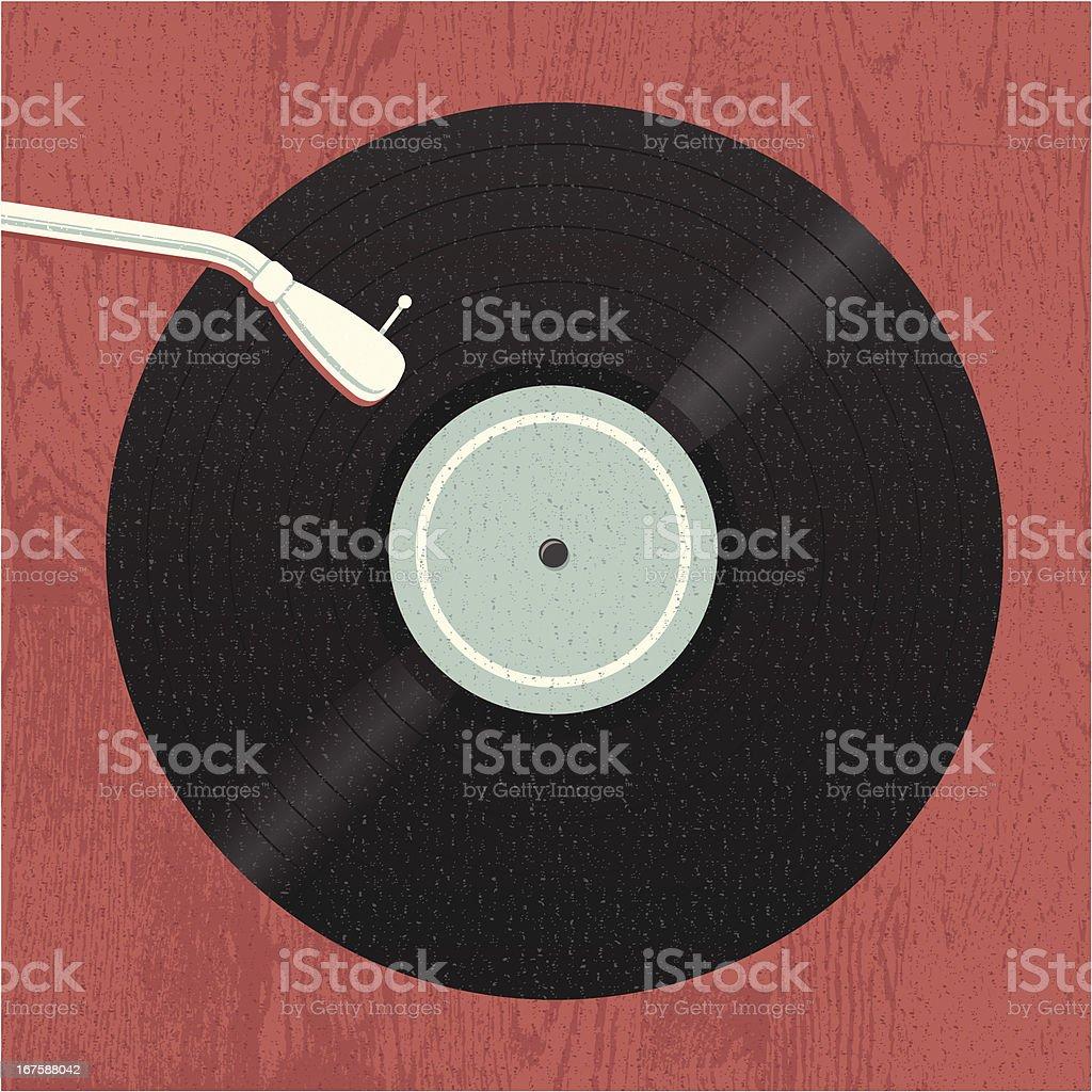 Old-School Music Vinyl vector art illustration