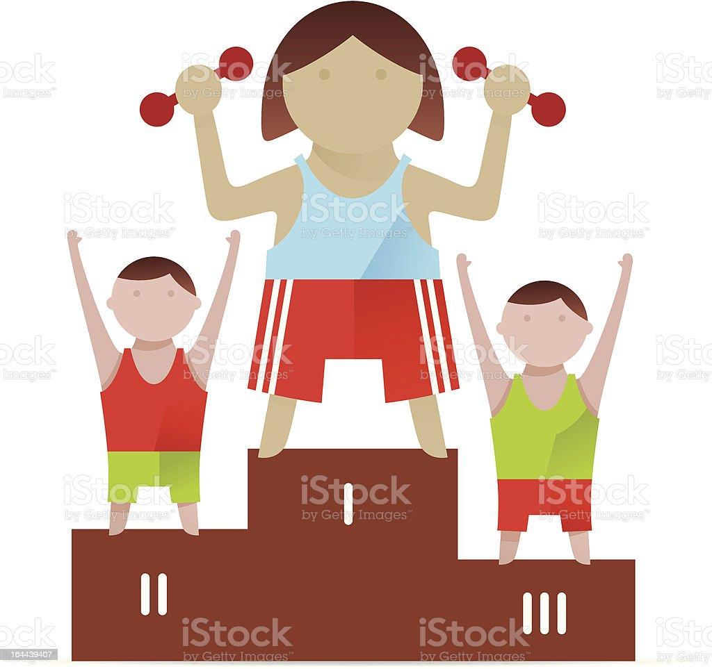 Olympic champions vector art illustration