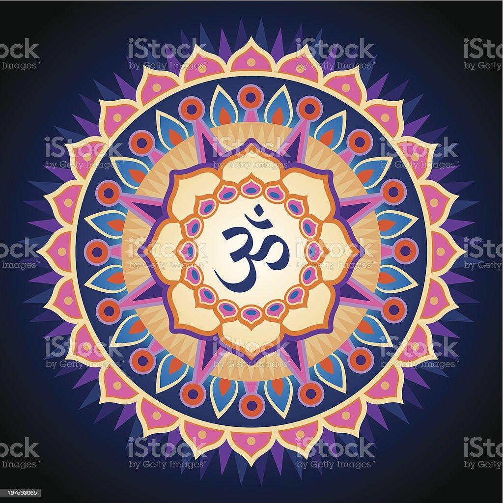 Om Mandala vector art illustration