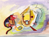 red cat on Kandinsky's motives