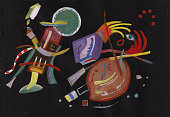 On Kandinsky's motives. abstract picture, horor nightmare