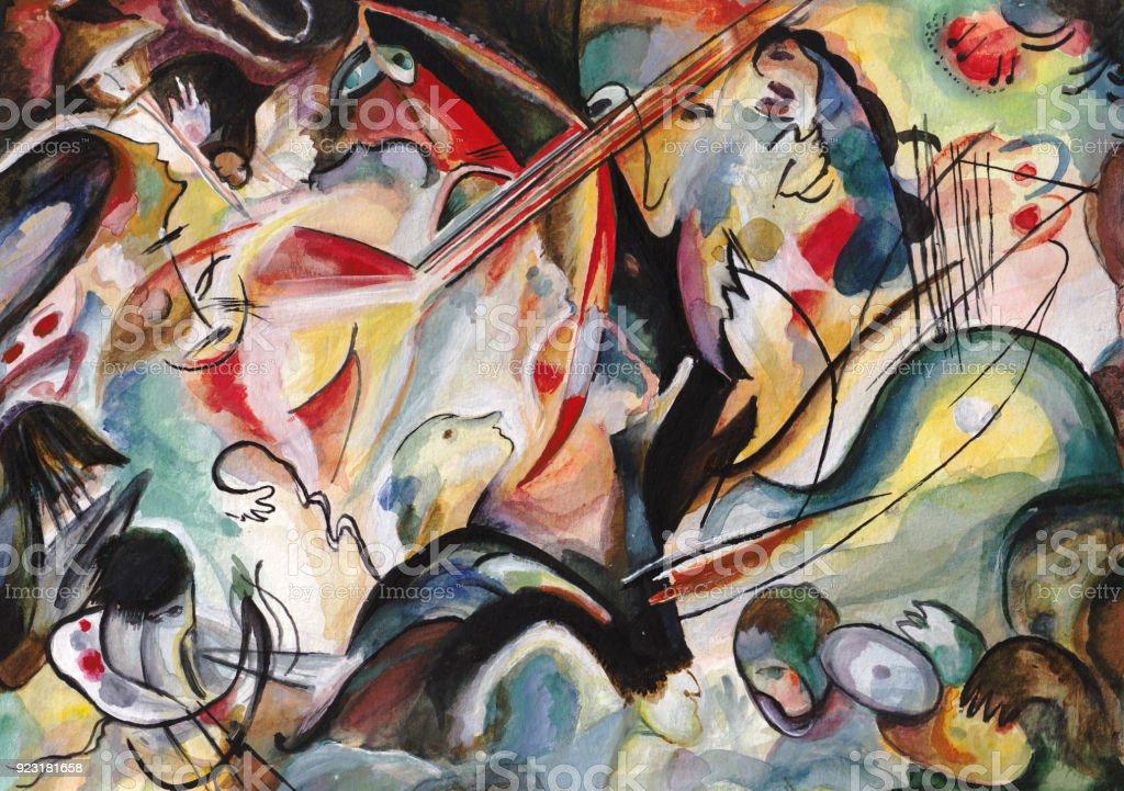On Kandinsky's motives vector art illustration