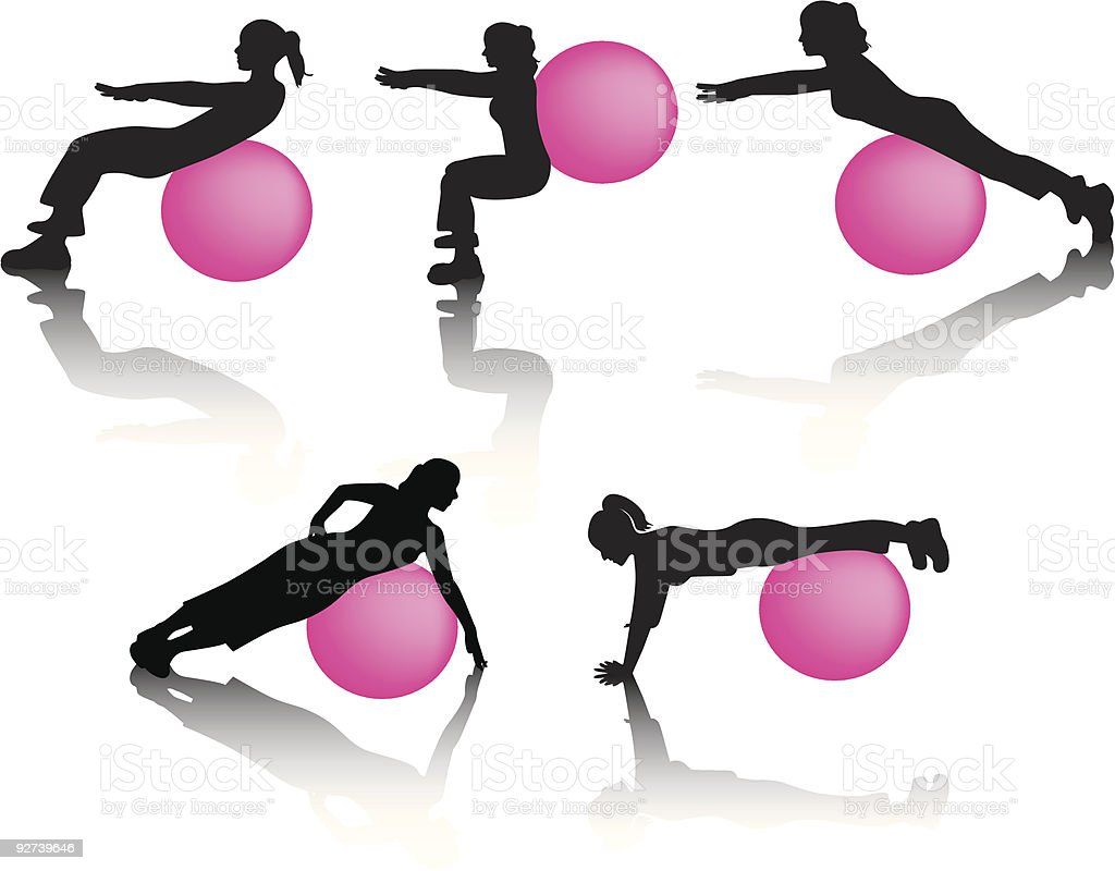 On The Ball royalty-free on the ball stock vector art & more images of abdominal muscle