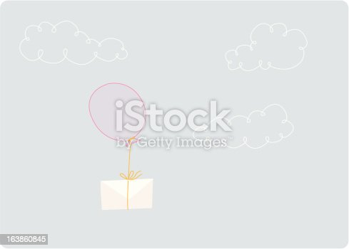 istock one ballon with a letter 163860845