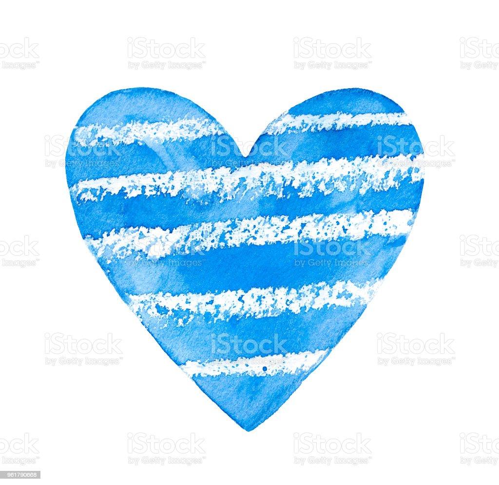 One Single Striped Heart Sky Blue Color Simple Beautiful Shape Stock ...