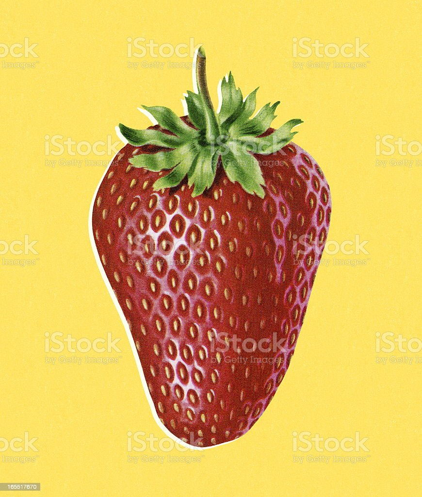 One Strawberry royalty-free stock vector art