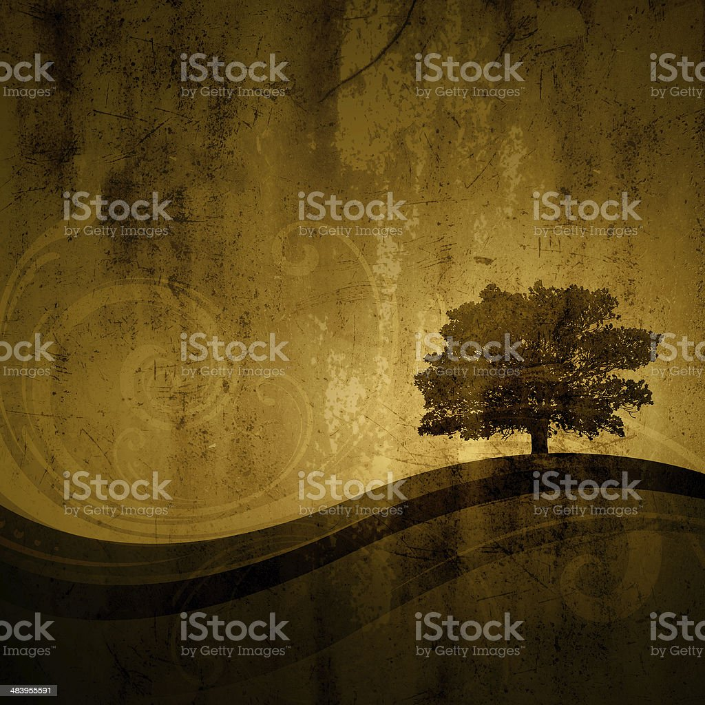 One tree hill royalty-free stock vector art
