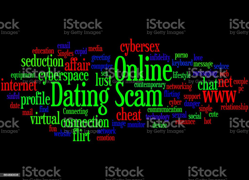 Online Dating Scam, word cloud concept 7 online dating scam word cloud concept 7 - immagini vettoriali stock e altre immagini di amore royalty-free