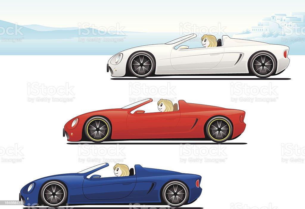 open car vector art illustration