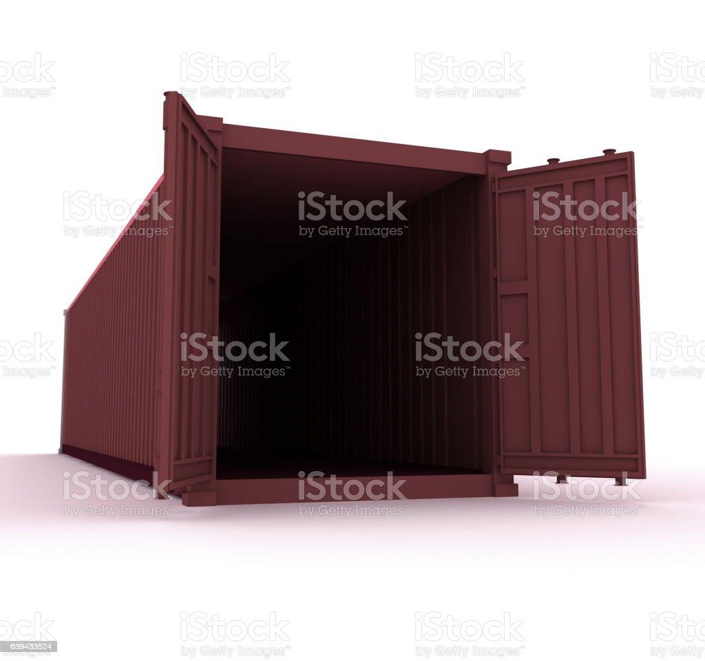 Open cargo container vector art illustration