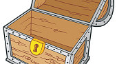 treasure chest lock coloring pages - photo#42