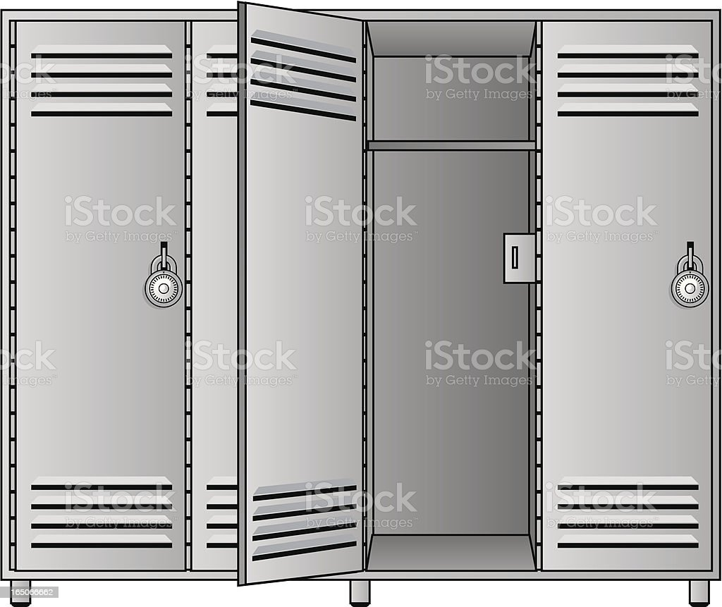 open locker royalty-free stock vector art
