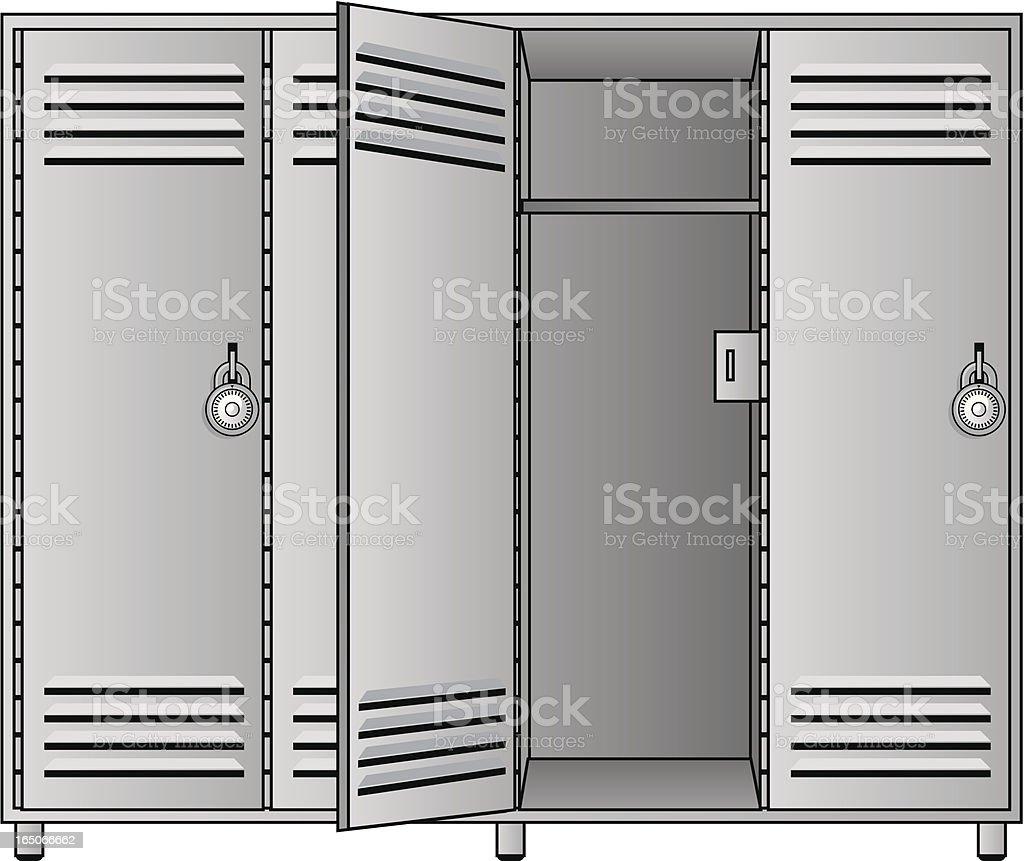 open locker vector art illustration