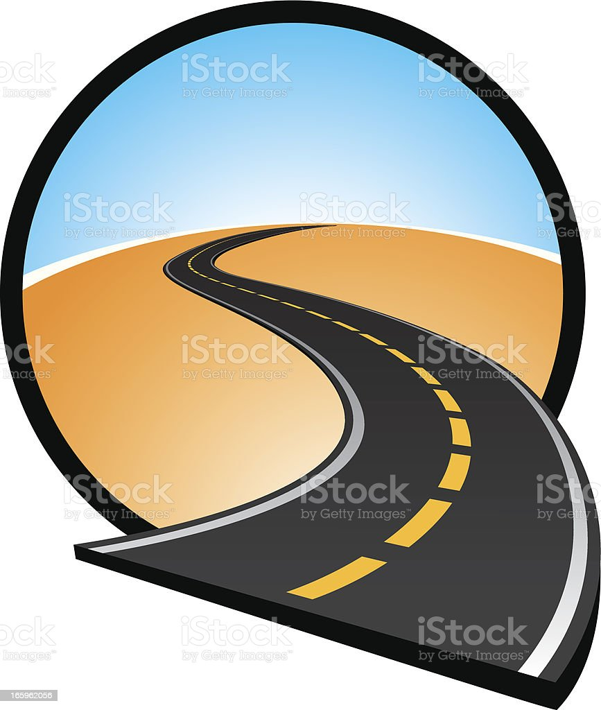 open road icon royalty-free stock vector art