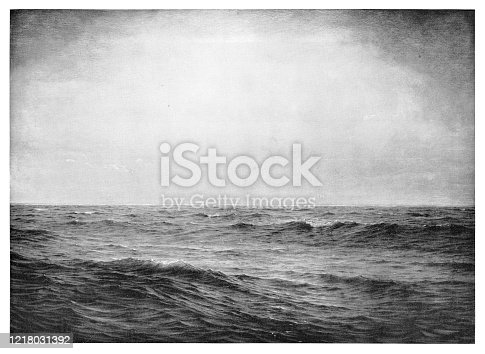 Open Sea  - Scanned 1894 Engraving