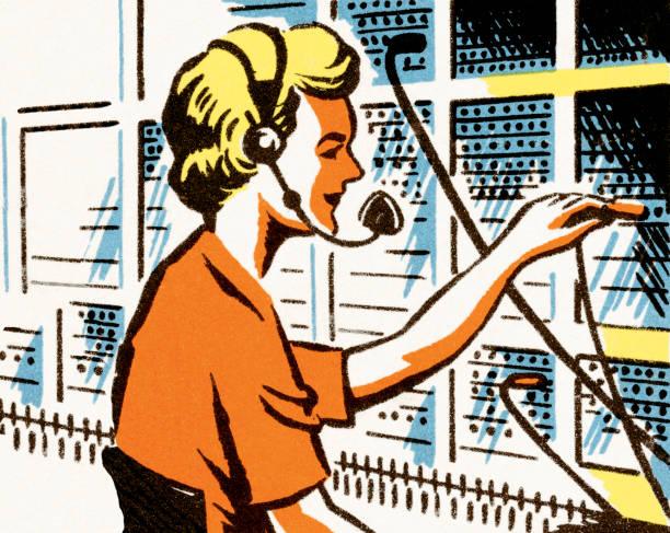 Operator Operator switchboard operator vintage stock illustrations