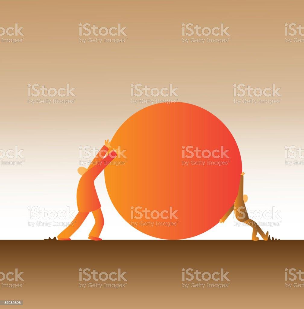 Opposing forces royalty-free stock vector art