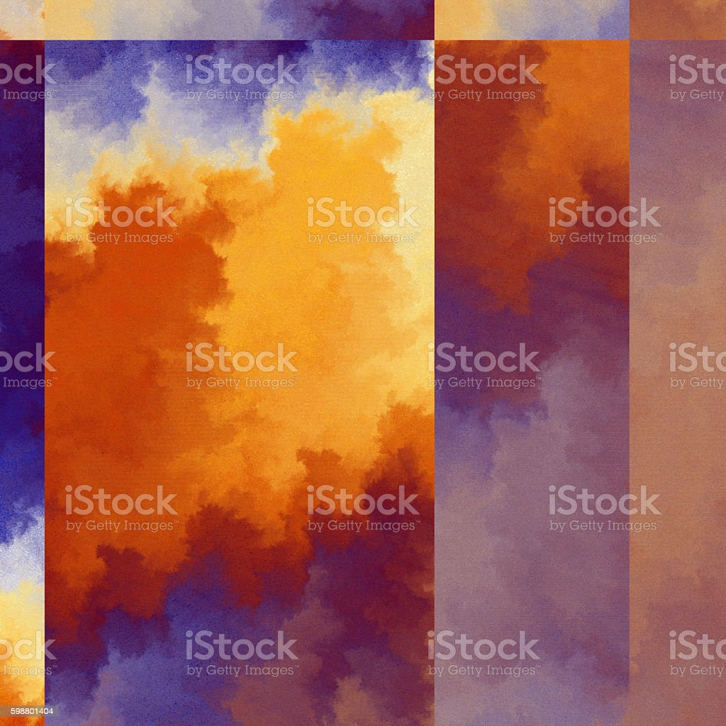 Autumn coloured fractured fractal pattern vector art illustration