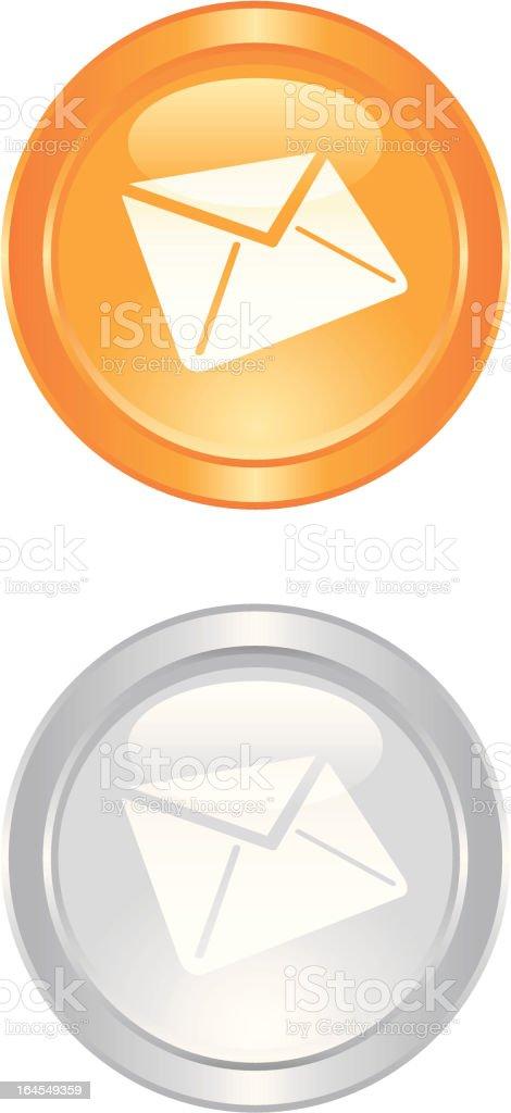 orange contact button royalty-free stock vector art