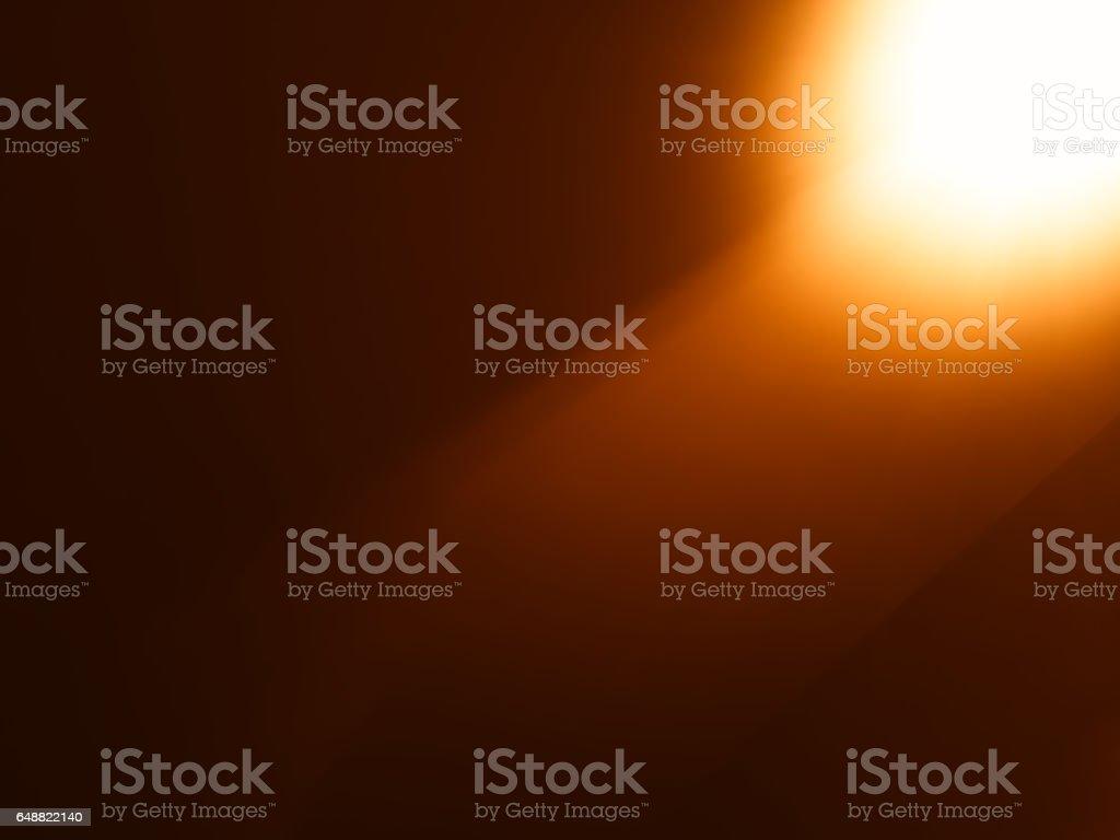 Orange diagonal light leak bokeh background vector art illustration