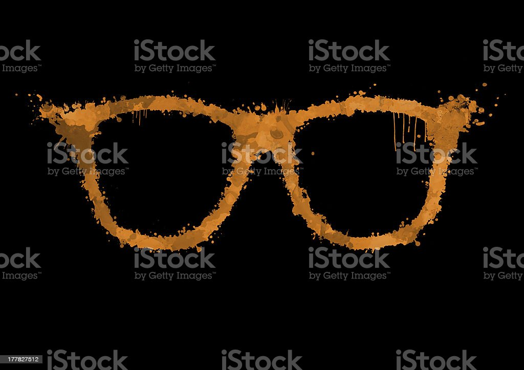 Orange glasses spray painted royalty-free stock vector art