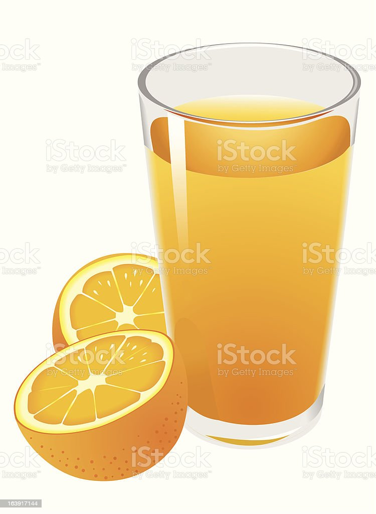 Orange juice royalty-free stock vector art
