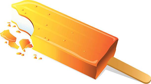 pomarańczowy lodowy - ice cream stock illustrations