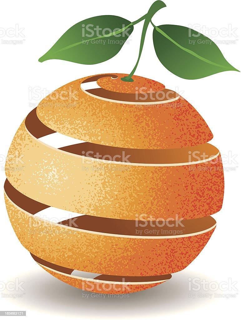 Orange Peel vector art illustration