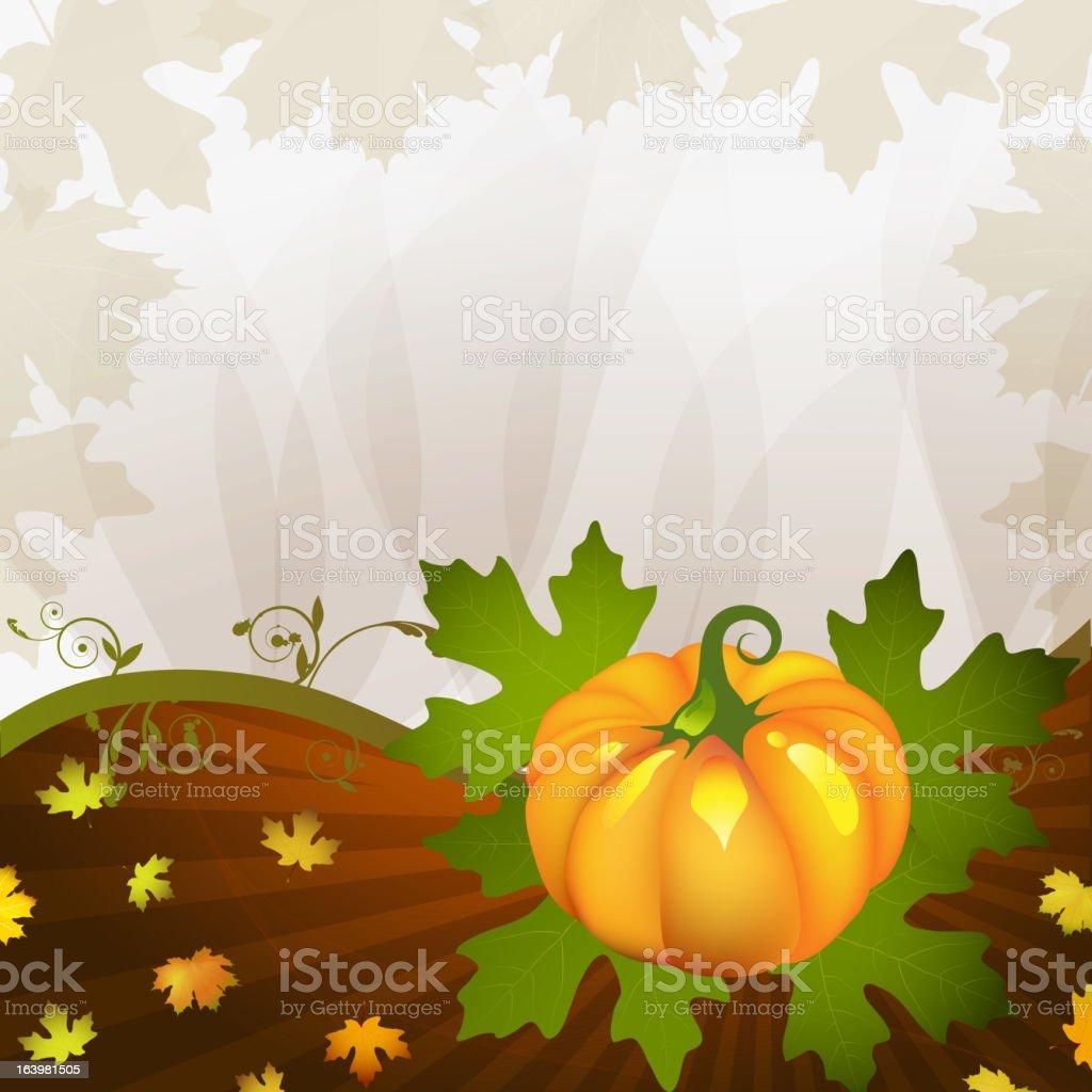 Orange pumpkin royalty-free stock vector art