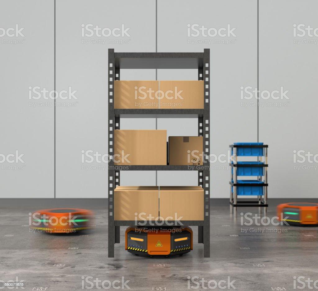 Naranja robots transportar tarimas con mercanc as en for Almacen de derecho
