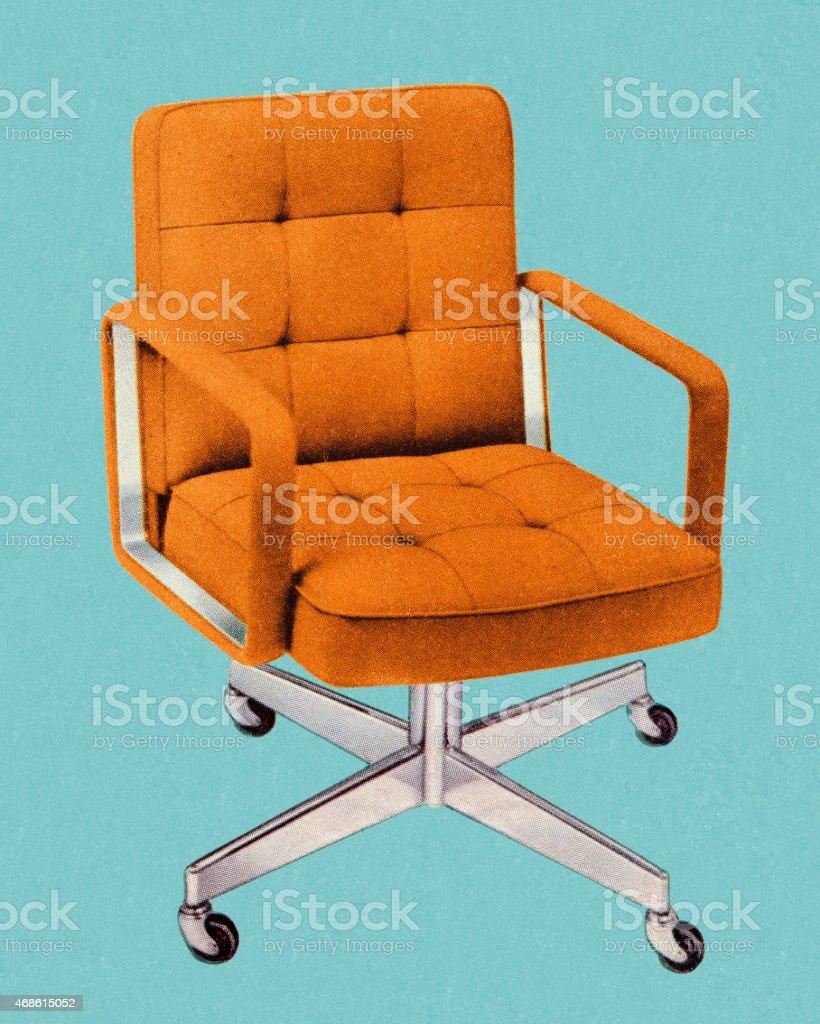 Sedie Da Ufficio Arancione.Arancione Vintage Sedia Da Ufficio Immagini Vettoriali Stock E