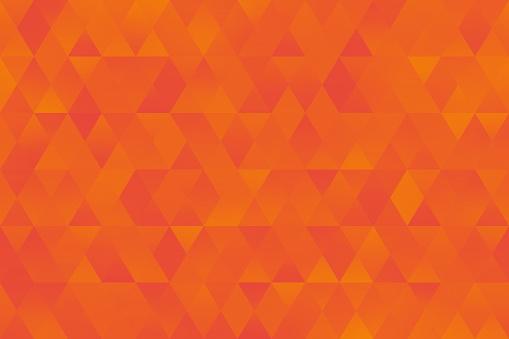 Orange Yellow Triangle Pattern Seamless Colorful Rhomb Background Bright Geometric Minimalism
