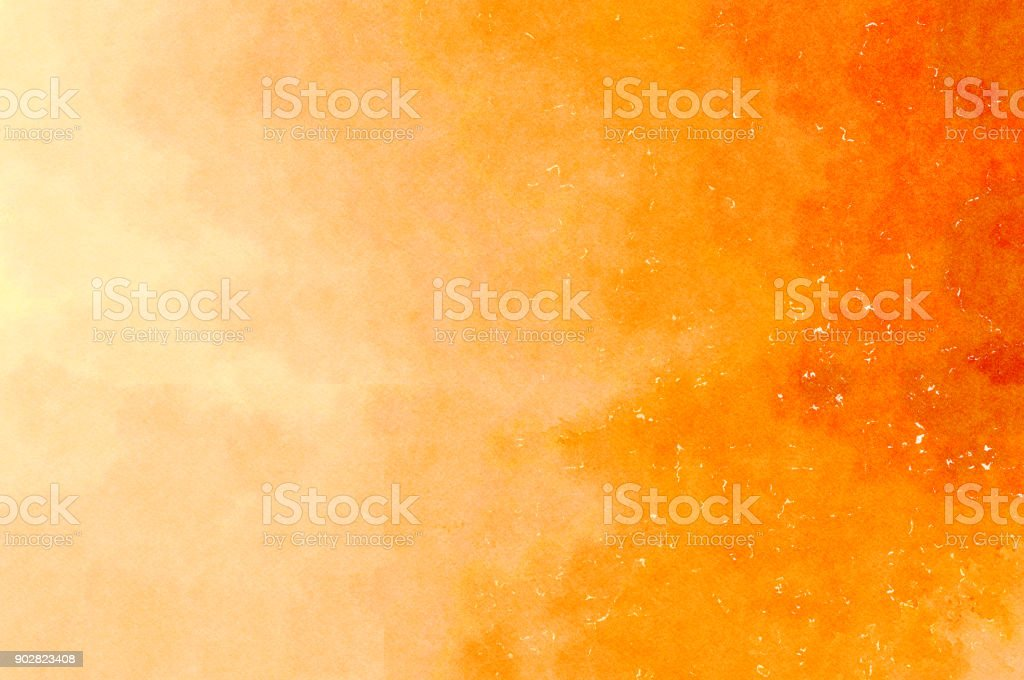 Acuarela de fondo amarillo naranja - ilustración de arte vectorial