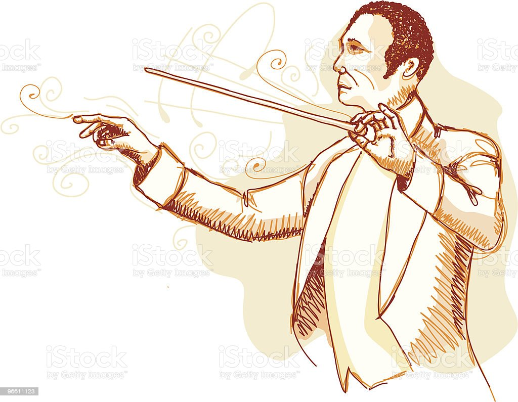 Orchestra Conductor - Royalty-free Adult stock vector