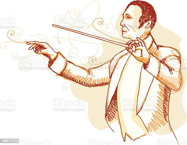 Orchestra Conductor-vektorgrafik och fler bilder på Dirigent