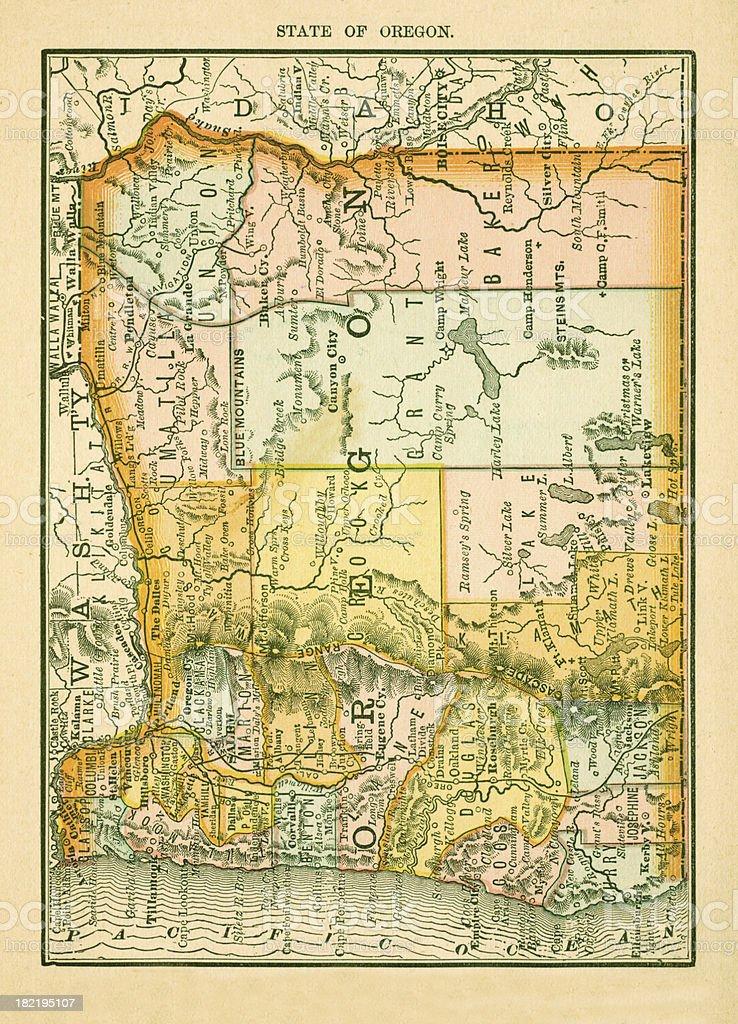 Oregon Usa Antique Maps High Resolution Stock Illustration ...