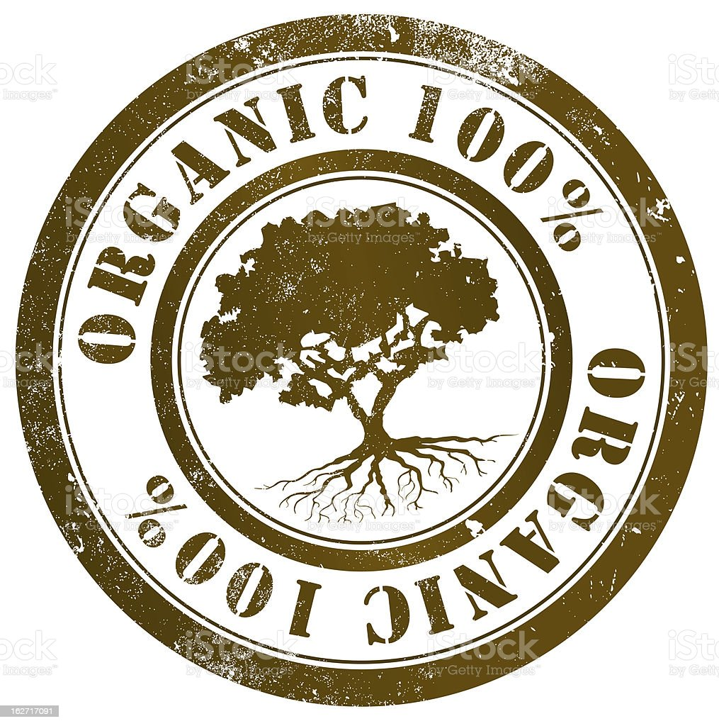 Organic 100% stamp royalty-free organic 100 stamp stock vector art & more images of brown
