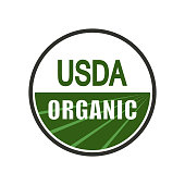 USDA organic shield sign. Vector illustration.