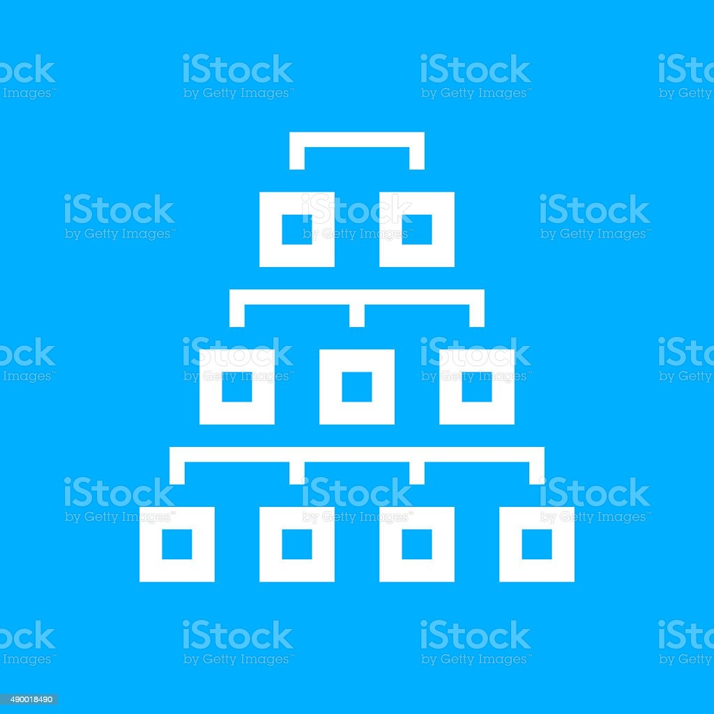 Organization Chart icon on a blue background. - Smooth Series royalty-free organization chart icon on a blue background smooth series stock vector art & more images of 2015
