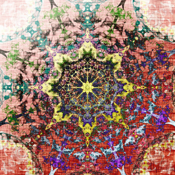 Oriental pattern with colorful mandala vector art illustration