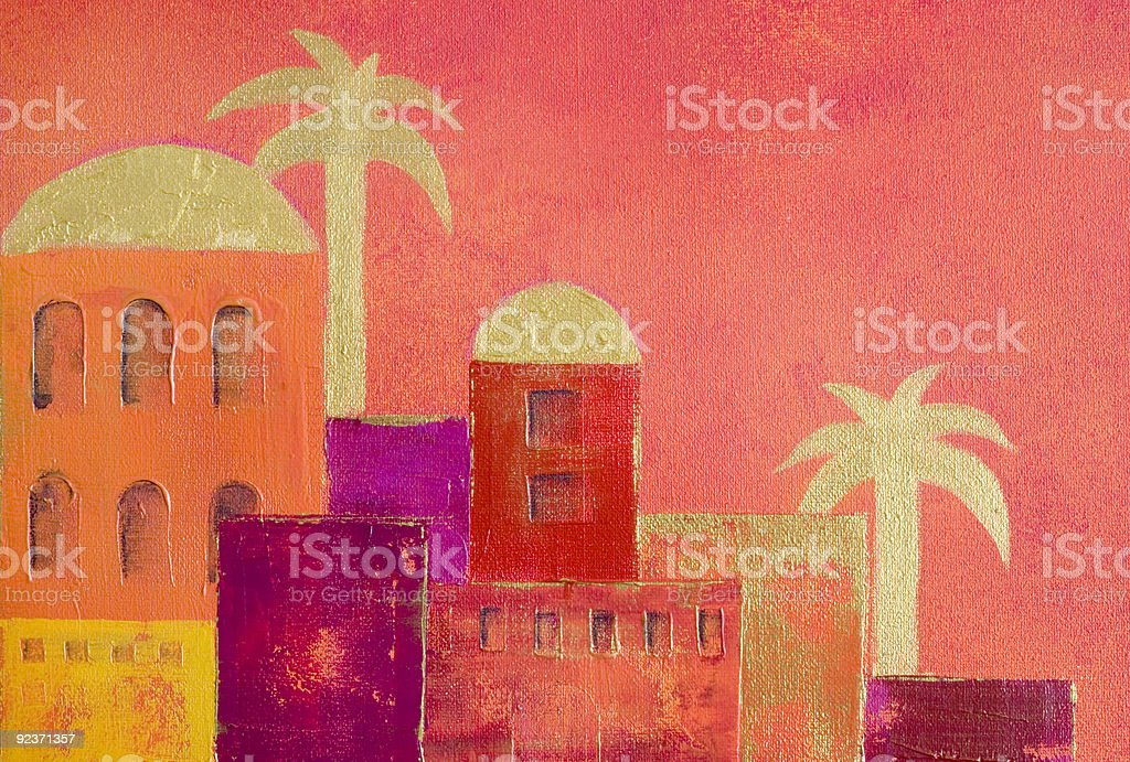 oriental village royalty-free oriental village stock vector art & more images of acrylic painting
