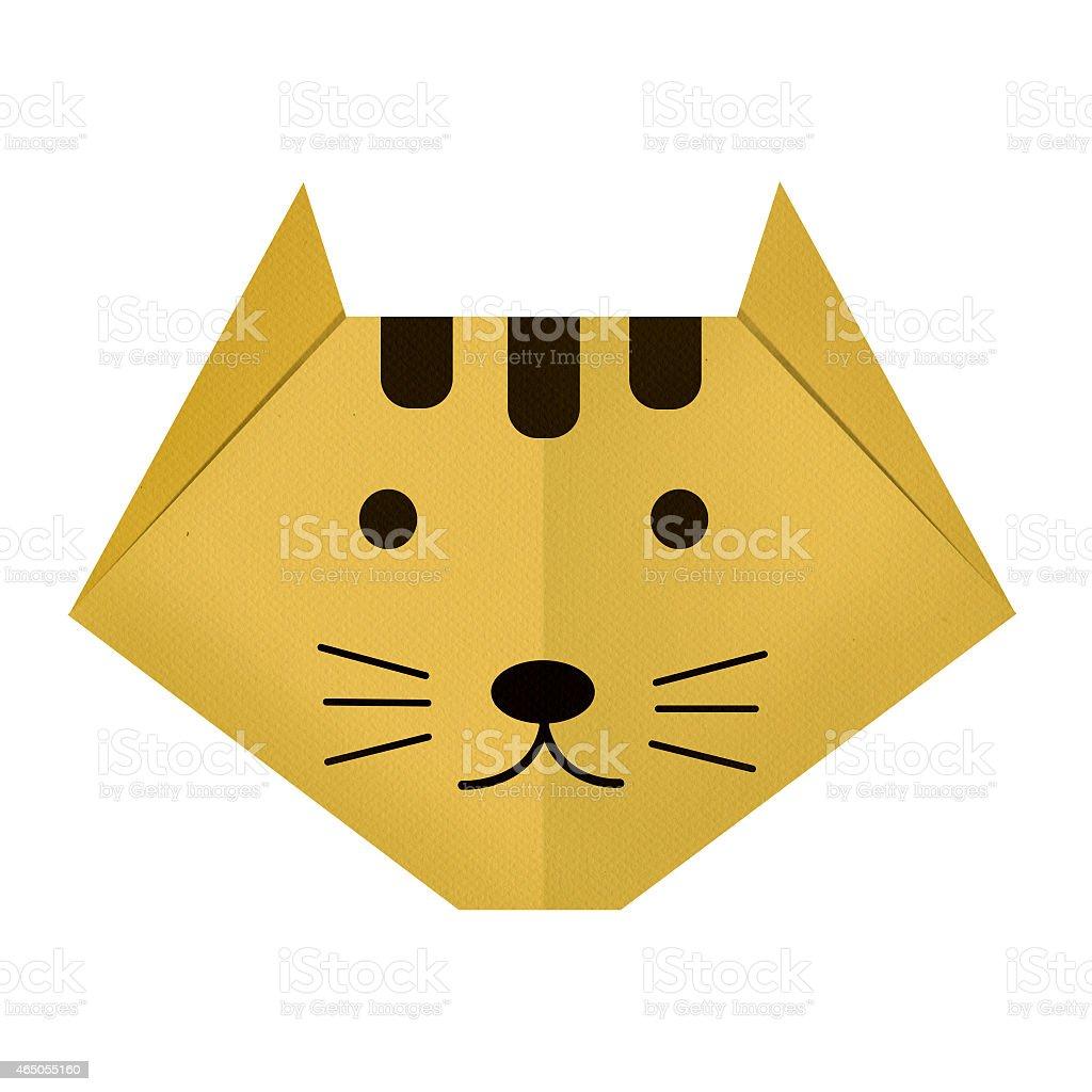 Origami Carta Una Tigre - Immagini vettoriali stock e altre immagini di  2015 - iStock