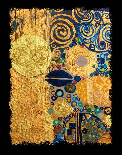 Originelle abstrakte Gemälde, Öl auf Leinwand – Vektorgrafik